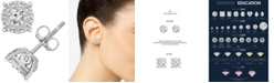 Macy's TruMiracle® Diamond Halo Cluster Stud Earrings (1/2 ct. t.w.) in 14k White Gold