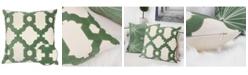 Homey Cozy Gabriella Olive Cotton Square Decorative Throw Pillow