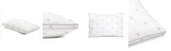 Calvin Klein Monogram Logo Medium Support Cotton Pillow, Standard/Queen