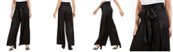 MSK Tie-Front Wide-Leg Pants