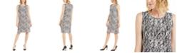 Alfani Printed Scoop-Neck Dress, Created for Macy's