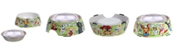 Certified International Dog Park 2-Pc. Bamboo Fiber Pet Bowl with Stainless Steel Insert