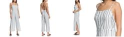 Roxy Juniors' Feelings Catcher Striped Strappy Jumpsuit