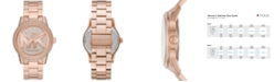 Michael Kors Ritz Three-Hand Rose Gold-Tone Stainless Steel Watch