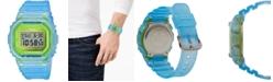 G-Shock Men's Digital Frosted Blue Resin Strap Watch 42.8mm