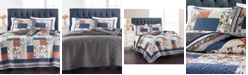 Martha Stewart Collection Mind Your Manor Floral Patchwork Twin/Twin XL Quilt, Created for Macy's