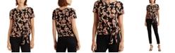 Lauren Ralph Lauren Self-Tie Floral Top