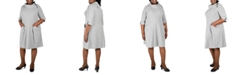Robbie Bee Plus Size Cowlneck Knit Sweater Dress