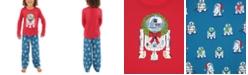 Munki Munki Matching Kids R2-D2 Holiday Wreath Family Pajama Set