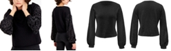 INC International Concepts INC Embellished-Sleeve Sweatshirt, Created for Macy's