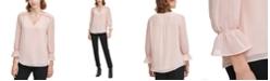 Calvin Klein Plus Size Ruffle-Cuff Top