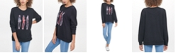 DKNY 3 Girls Graphic Print Sweatshirt