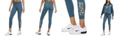 Nike Women's Sportswear Printed-Logo Leggings