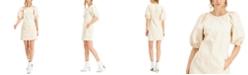 INC International Concepts INC Puff-Sleeve Denim Mini Dress, Created for Macy's