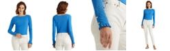 Lauren Ralph Lauren Square Neck Long Sleeve Top