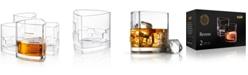 JoyJolt Revere Triangle Whiskey Glasses, Set of 4