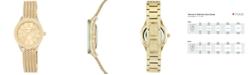 Anne Klein Women's Gold-Tone Stainless Steel Mesh Bracelet Watch 30mm AK-2208CHGB