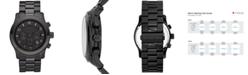 Michael Kors Men's Runway Black Ion Plated Stainless Steel Bracelet Watch 45mm MK8157