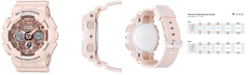 G-Shock Women's Analog-Digital Blush S Peach Resin Strap Watch 46mm GMAS120MF-4A
