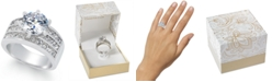 Charter Club Crystal Triple-Row Ring in Fine Silver Plate or Gold Plate, Created for Macy's