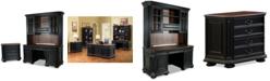 Furniture Beekman Home Office, 3-Pc. Furniture Set (Credenza Hutch, Computer Credenza, & File Cabinet)