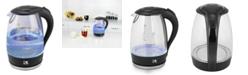 Kalorik Glass Water Kettle with Blue LED lights