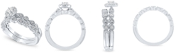 Macy's Diamond Halo Bridal Set (1/3 ct. t.w.) in 14k White Gold