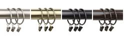 Rod Desyne 2 inch Curtain Rings w/ Clip (Set of 10)