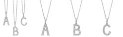 Macy's 14k White Gold Diamond Accent Alphabet Pendants