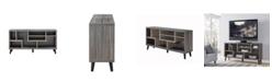"Furniture of America Nahmene Two-Tone 60"" TV Stand"