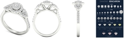 Macy's Diamond (7/8 ct. t.w.) Engagement Ring in 14k White Gold