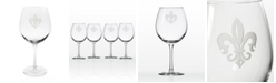 Rolf Glass Grand Fleur De Lis Balloon Wine 18Oz - Set Of 4 Glasses