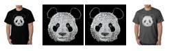 LA Pop Art Mens Word Art T-Shirt - Panda Head