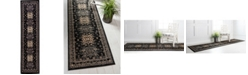 "Bridgeport Home Charvi Chr1 Black 2' 7"" x 10' Runner Area Rug"
