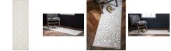 """Bridgeport Home Marshall Mar5 Snow White 3' x 9' 10"""" Runner Area Rug"""