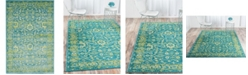 Bridgeport Home Linport Lin3 Blue 4' x 6' Area Rug