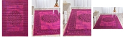 "Bridgeport Home Linport Lin5 Fuchsia 8' x 11' 6"" Area Rug"