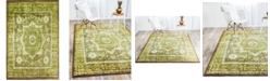 Bridgeport Home Linport Lin7 Green 4' x 6' Area Rug