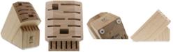 J.A. Henckels Zwilling Pro Natural Rubberwood 16-Slot Cutlery Block