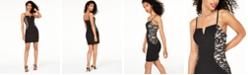 BCX Juniors' Embellished-Side Bodycon Dress
