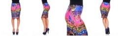 White Mark Rainbow Python Pencil Skirt