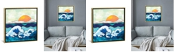 """iCanvas Stormy Waters by Spacefrog Designs Gallery-Wrapped Canvas Print - 18"""" x 18"""" x 0.75"""""""