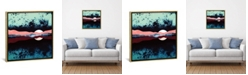 """iCanvas Night Sky Reflection by Spacefrog Designs Gallery-Wrapped Canvas Print - 18"""" x 18"""" x 0.75"""""""