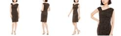 Vince Camuto Metallic Animal-Print Bodycon Dress