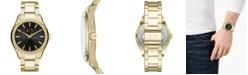 A|X Armani Exchange Men's Fitz Gold-Tone Stainless Steel Bracelet Watch 44mm