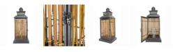 "Heather Ann Creations Clayton 25"" Metal and Bamboo Lantern"