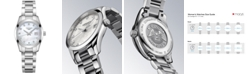 Longines Women's Swiss Conquest Classic Diamond Accent Stainless Steel Bracelet Watch 29.5mm