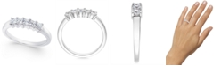 Macy's Diamond 5-Stone Princess Band (1/2 ct. t.w.) in 14k White Gold