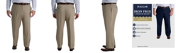 Haggar Men's Big & Tall Iron Free Premium Khaki Classic-Fit Flat Front Pant