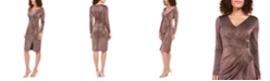 Vince Camuto Metallic Animal-Print Stretch Dress